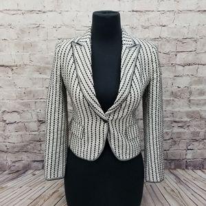 Zara Woman M  Texture Quilted One Button Blazer